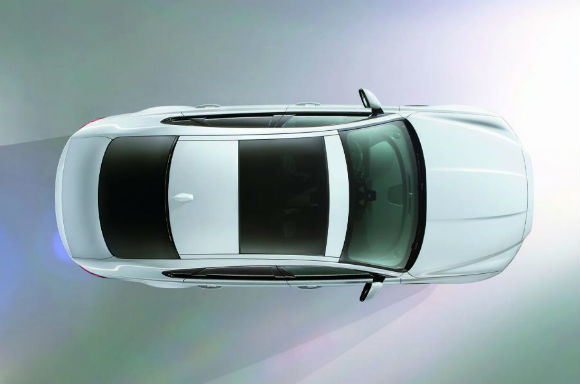 Jaguar XF 2016 teaser, vista-superior
