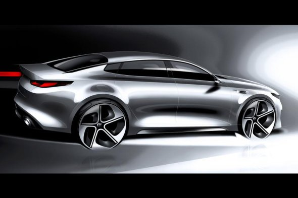 Kia Optima, previo a Nueva York , lateral
