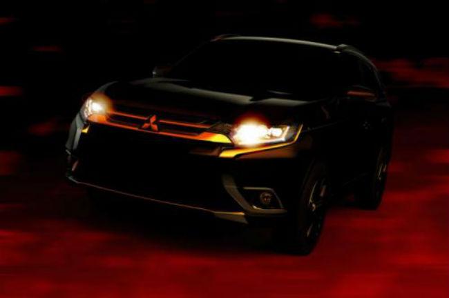 Mitsubishi Outlander frente en boceto oficial
