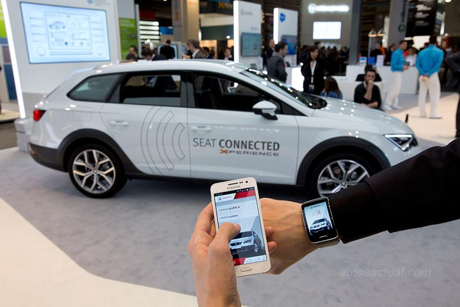 Seat y Samsung conectividad total MWC 2015