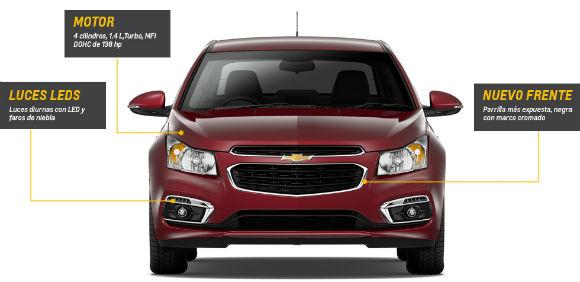 Chevrolet Cruze 2015 en México, modificaciones