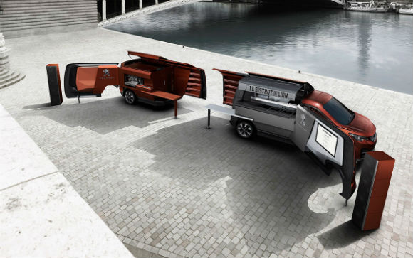 Foodtruck Peugeot abierto