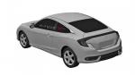 Honda Civic 2016 bocetos filtrados vista trasera