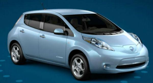 Nissan LEAF azul