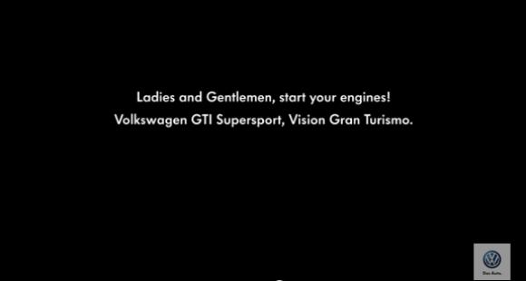 Volkswagen GTI Vision Gran Turismo imagen de video teaser promocional