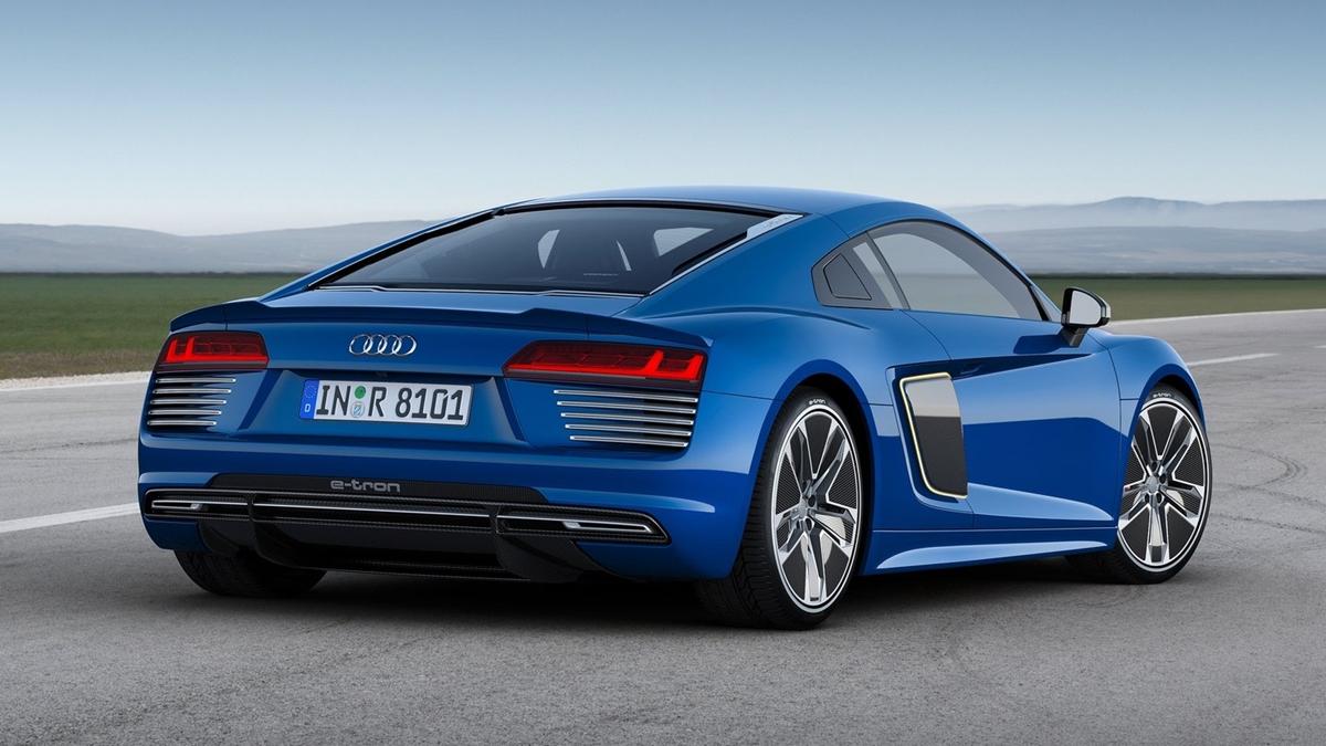 Audi R8 e-tron Piloted Driving Concept parte trasera