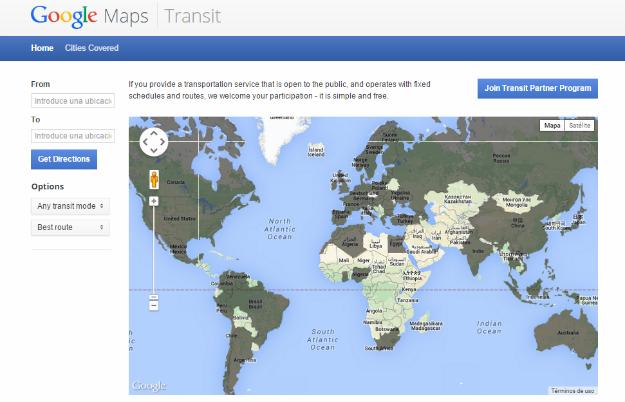 Google Maps transit