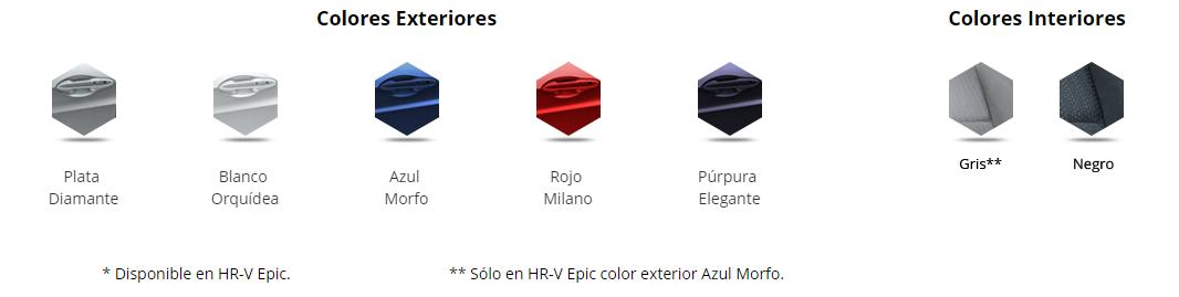 Honda HR-V 2016 colores