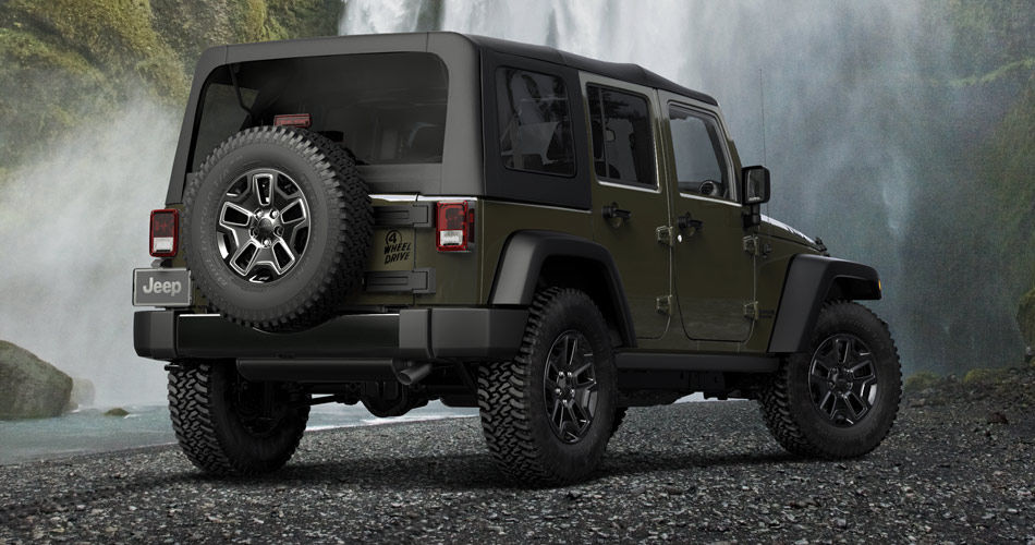 Jeep Wrangler Willys 2015 parte trasera