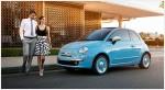 Fiat 500 1957 Edición San Remo 2015 México colores azul con modelo