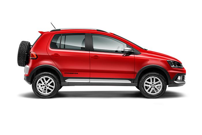 Nuevo Volkswagen CrossFox 2016 en México color rojo de lado