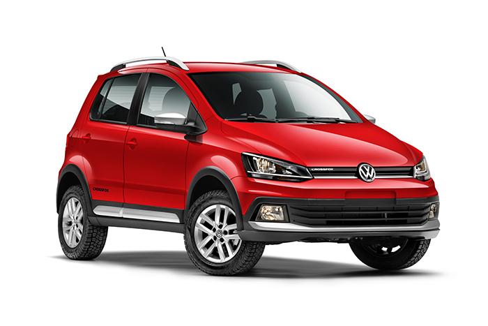 Nuevo Volkswagen CrossFox 2016 en México color rojo de perfil