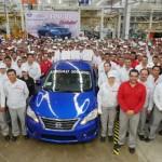 Nissan llega a 300,000 unidades producidas en la planta de Aguascalientes A2