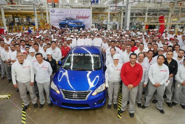 Nissan llega a 300 000 unidades en Aguascalientes A2