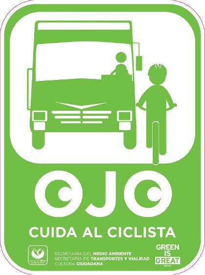 Ojo con el ciclista