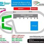 Precios de los boletos para el Ciudad de México ePrix el 12 de marzo de 2016