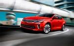 Nuevo Kia Optima 2016 color rojo en carretera