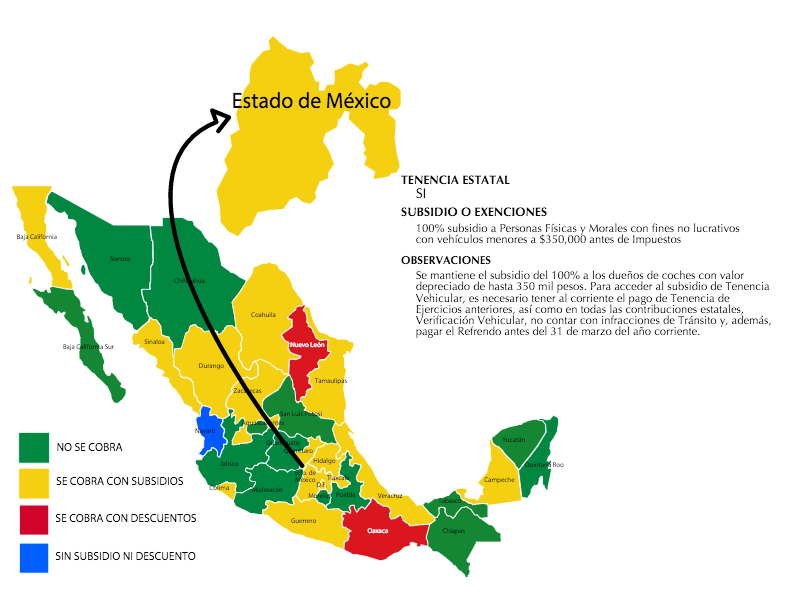 Tenencia 2016 Estado de México