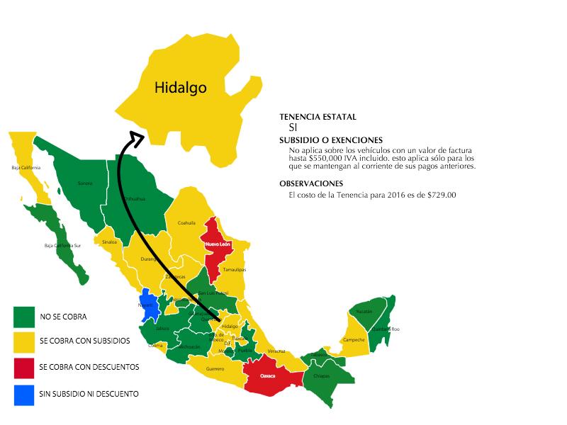 Tenencia 2016 Hidalgo