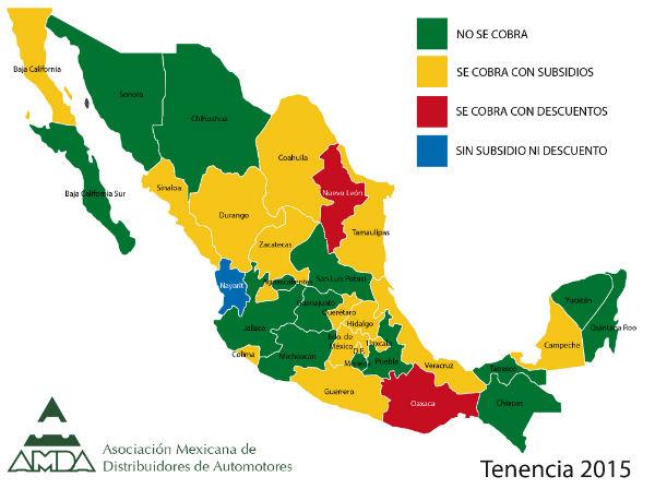 Tenencia 2016 México