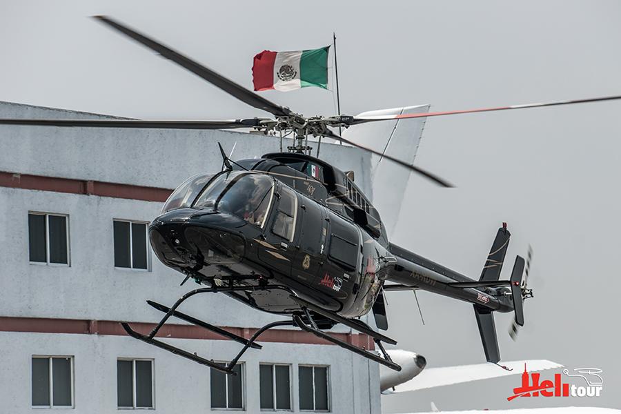 CabiFLY Shuttle helicóptero despegando en la Ciudad de México