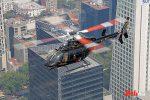 CabiFLY Shuttle helicóptero en servicio en la CDMX sobre edificios