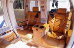 CabiFLY Shuttle helicóptero y su interior cómodo