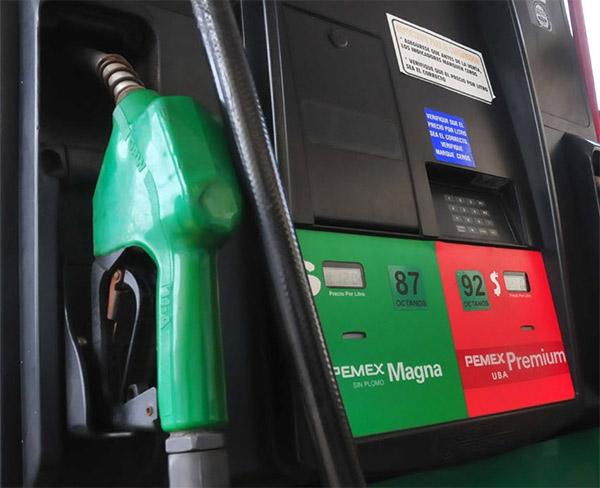 Gasolinera pemex bomba de gas