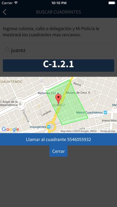 App Mi Policía en CDMX opciones localización