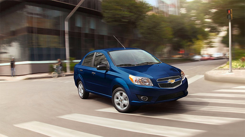 Chevrolet Aveo 2017 México color azul nuevo frente