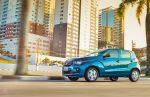 Nuevo Fiat Mobi 2017 en México color azul versión Like de lado