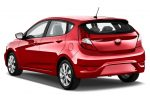 Hyundai Accent 2017 hatchback color rojo