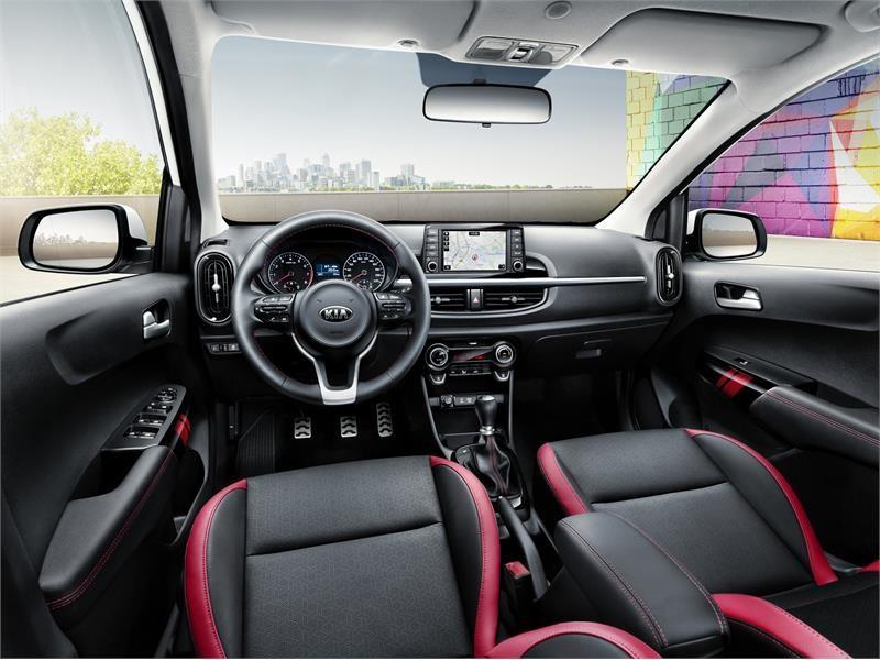 Kia Picanto 2018 consola interiores