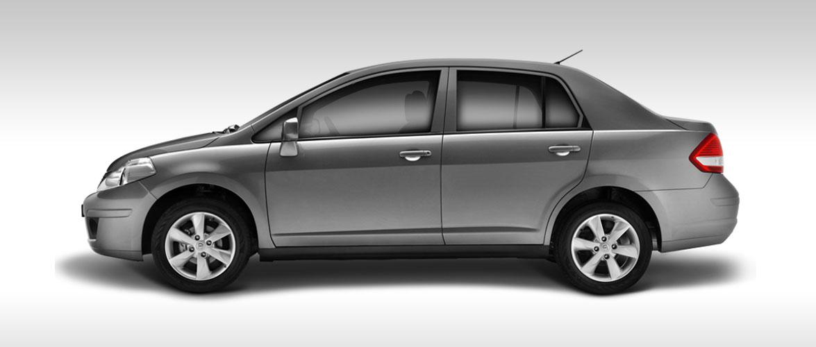 Nissan Tiida 2017 en México color plata perfil - Autos ...