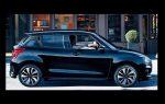 Nuevo Suzuki Swift 2018 color negro de lado