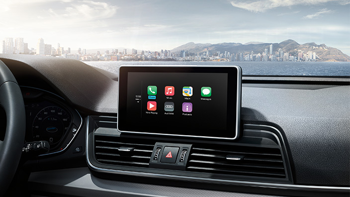 Audi Q5 2018 en México pantalla a color Apple CarPlay