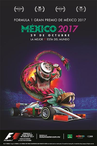 Fórmula 1 Gran Premio de México 2017 póster cartel oficial