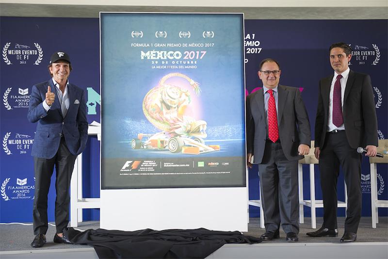 Fórmula 1 Gran Premio de México 2017  Emerson Fittipaldi, Federico González Compeán y Rodrigo Sánchez Peraza