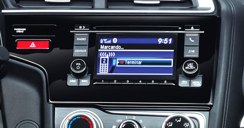 Honda Fit 2017 en México Sistema con Pantalla LCD de 5 pulgadas, Bluetooth y USB