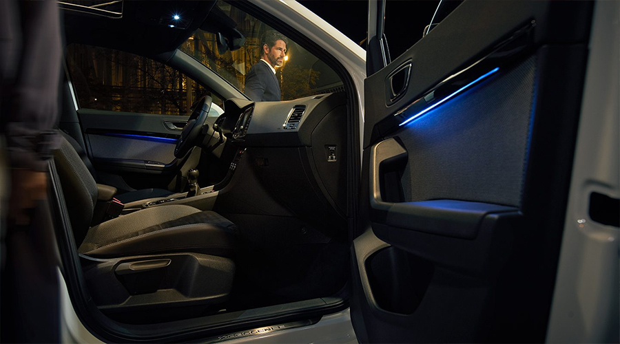 Seat Ateca 2017 en México interior luz ambiental personalizable