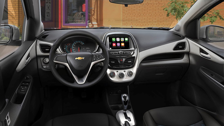 Chevrolet Spark  CVT 2017 en México interior con pantalla touch y Android Auto, Apple CarPlay