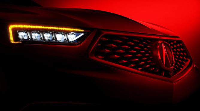 Acura TLX 2018 en imagen oficial teaser faros LED