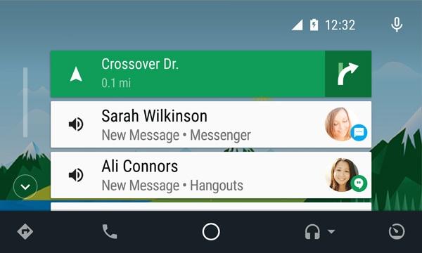 Android Auto mensajes