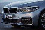 BMW Serie 5 2018 en México frente con faros de halógeno y LED parrilla