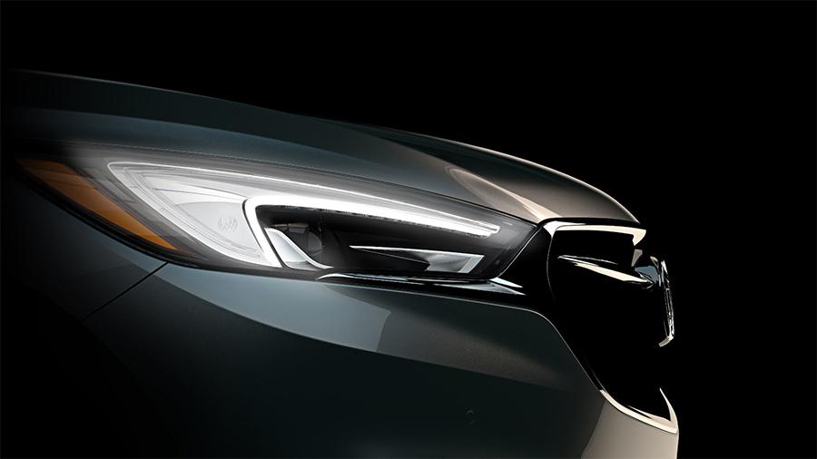 Buick Enclave 2018 faros LED y parrilla frontal