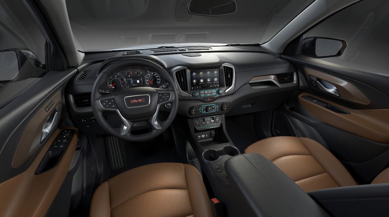 GMC Terrain 2018 interior infoentretenimiento pantalla touch con Android Auto y Apple CarPlay