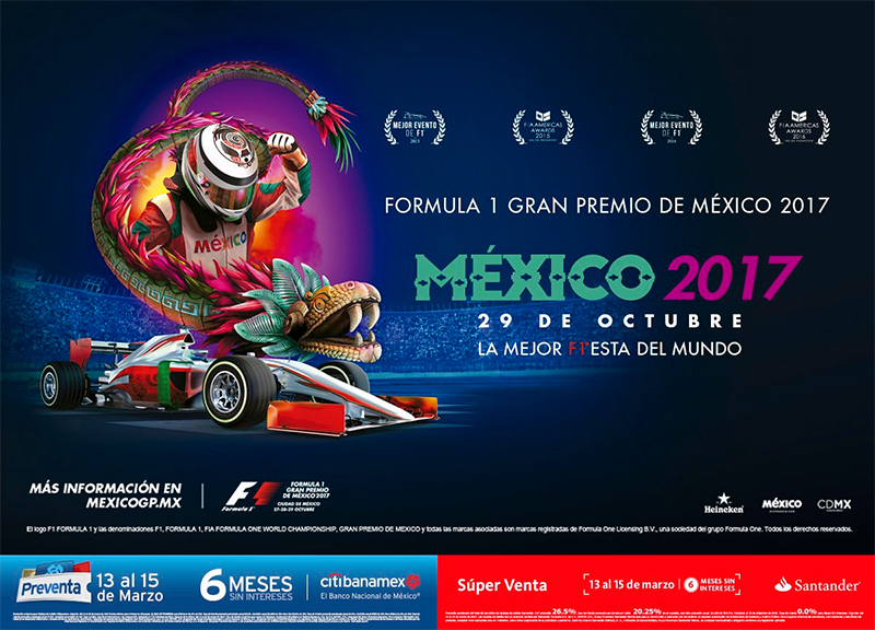 Póster Fórmula 1 Gran Premio de México 2017