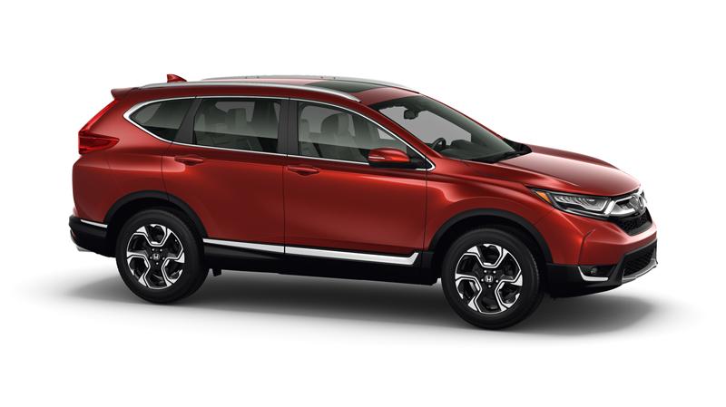 Honda CR-V 2017 México rojo lateral derecho