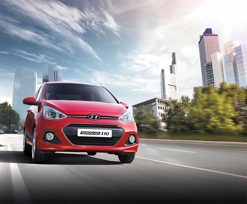 Hyundai Grand i10 2017 en México color rojo