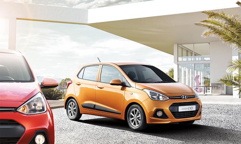 Hyundai Grand i10 México color naranja frente